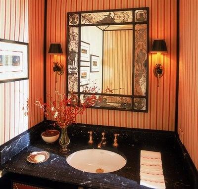 bathroom-- love this for a guest bath