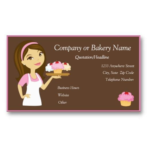 24 best cheap business cards online images on pinterest business brunettepink cupcake bakerbakery business card reheart Choice Image