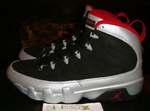 70318c621f9 Young Air Jordan 9 Big Boys Shoe Johnny Kilroy Black Metallic Platinum Gym  Red 302370 012