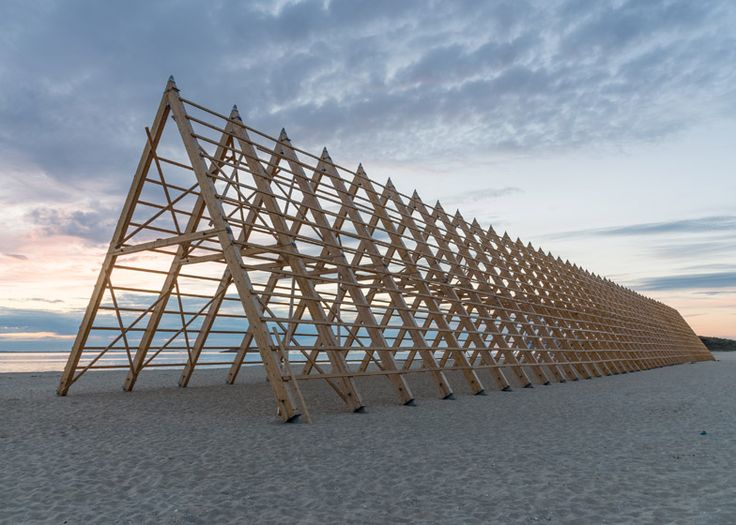 Sami Rintala's wood structures will host concerts on a Norwegian beach