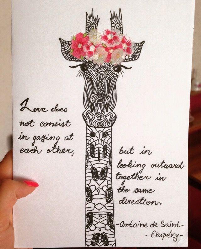 Diy birthday card giraffe