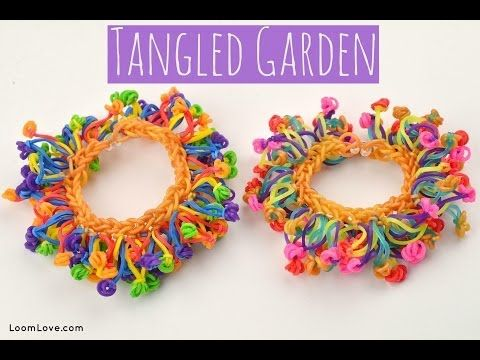Rainbow Loom TANGLED GARDEN Bracelet. Designed and loomed by Emily at Loom Love. Click photo for YouTube tutorial. 06/25/14.