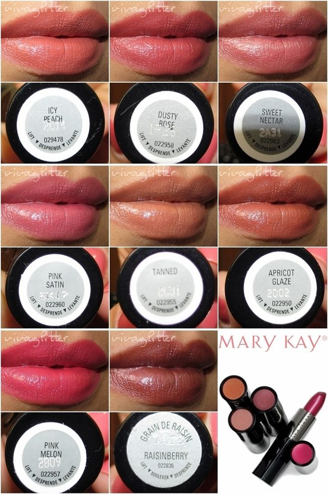 Mary Kay Creme Lipstick Swatches. If you're looking for a neutral/nude lip color for mediumbrown/olive skin tones, these are perfect! #lipstickcolorsforbrunettes