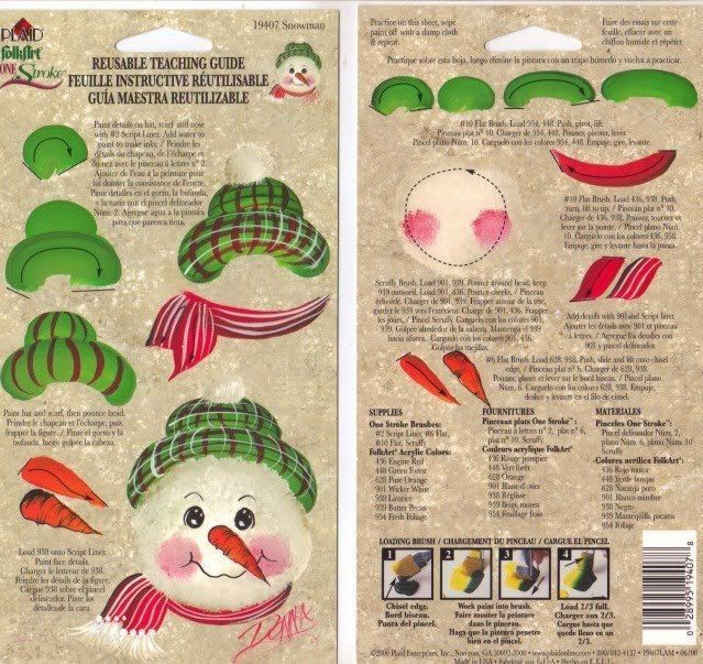Snowman #19407 RTG Guide from Donna Dewberry