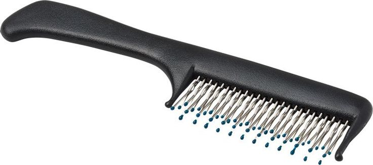 Teasing Comb: Unlike most teasing combs, this one has 4 rows of stainless steel teeth so it combs more hair with each stroke. Just tease the underside of your hair, then comb it over for a smooth look.
