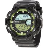 Armitron Men's 40/8246LGN Black and Lime Green Digital World Time Sport Chronograph Watch (Watch)  #Whatches