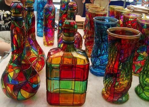 artesanía con falso vitral