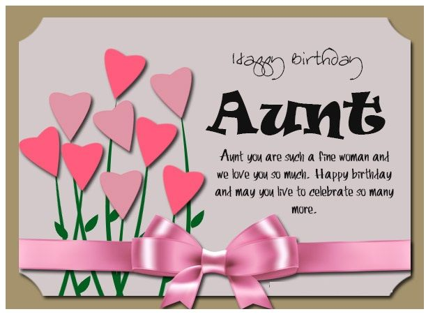 Happy Birthday Image For Your Beautiful Aunt Happy Birthday Images