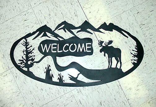 PlasmaCAM cutting Systems, CNC Plasma Cutting machine, CNC plasma table. Moose, wildlife metal welcome sign
