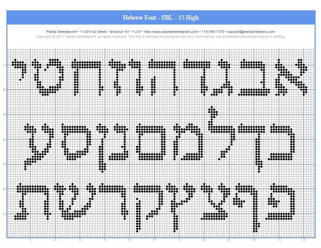 Needlepoint AlephBet Guides