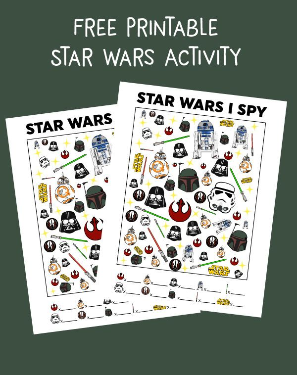 image regarding Star Wars Printable Crafts titled Star Wars Free of charge Printable I Spy Match In the direction of Occupy The Small children