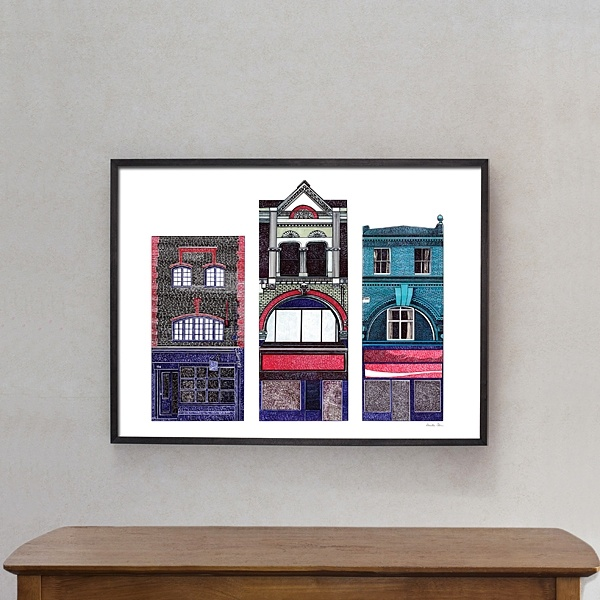 "Poster ""Old Hackney Houses"""
