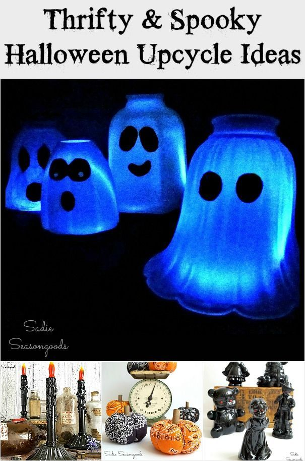 Upcycled and Repurposed DIY Halloween Craft Projects from the Thrift ...