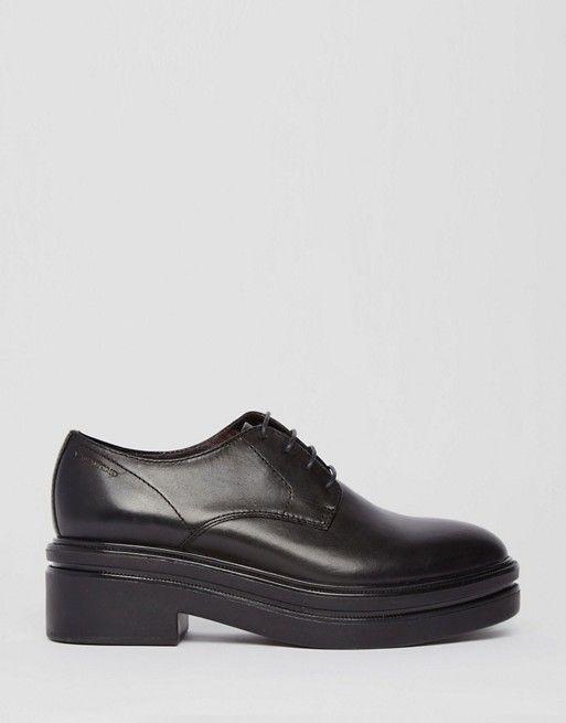 Vagabond | Черные туфли на массивной подошве со шнуровкой Vagabond Iza