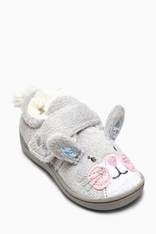 Buy Grey Bunny Slipper (Younger Girls) online today at Next: Portugal