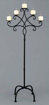 A contemporary take on timeless classic! Black tall wrought iron candelabra for just $49.99