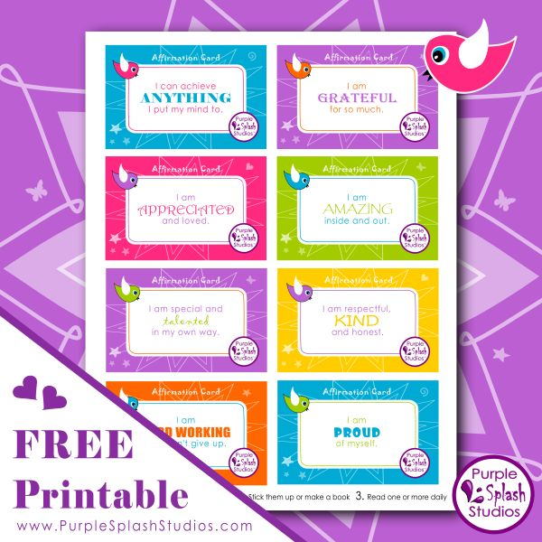 Gorgeous affirmation cards for kids that help build self confidence and encourage positive thoughts. Love this free printable.