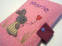 Windeltasche Hase mit Herz Name - Mädchen Rosa