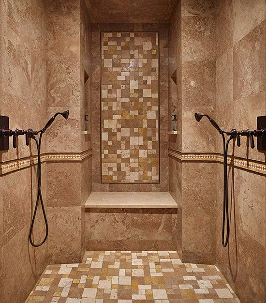 mediterranean bathroom shower bench design pictures