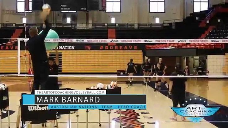 Off the Block Fit Ball Drill - Mark Barnard - The Art of Coaching Volleyball