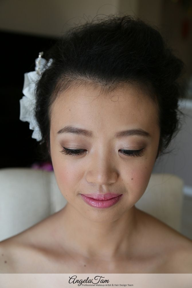 Asian Bridal Wedding Makeup And Hair Natural Soft Smoky Eye Make Up Angela Tam Artist Los Angeles Orange County