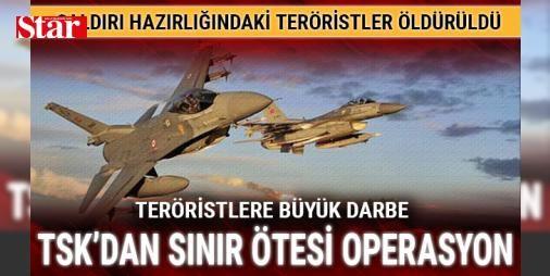 TSK'dan Irak'ın kuzeyine operasyon: Çok sayıda terör hedefi vuruldu: Türk Silahlı Kuvvetlerince, Irak'ın kuzeyinde Zap ve Gara bölgelerinde bölücü terör örgütüne ait hedeflere düzenlenen hava harekatında iki terörist etkisiz hale getirildi, üç mağara ve bir doçka silah mevzisi imha edildi. Türk Silahlı Kuvvetlerinden yapılan bilgilendirmeye göre, Zap ve Gara bölgelerinden askeri birliklere yönelik eylem hazırlığında bulunan iki terörist tespit edildi. Bunun üzerine Hava Kuvvetleri…