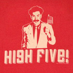 Awesome High Five Borat high five