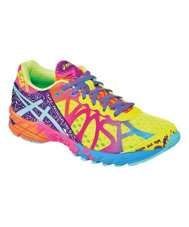 Look at this #zulilyfind! Flash Yellow & Turquoise GEL®-Noosa Tri 9 Running Shoe by ASICS #zulilyfinds