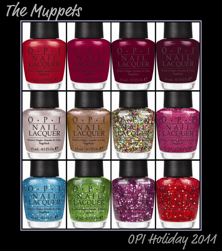 OPI Muppets Holiday 2011