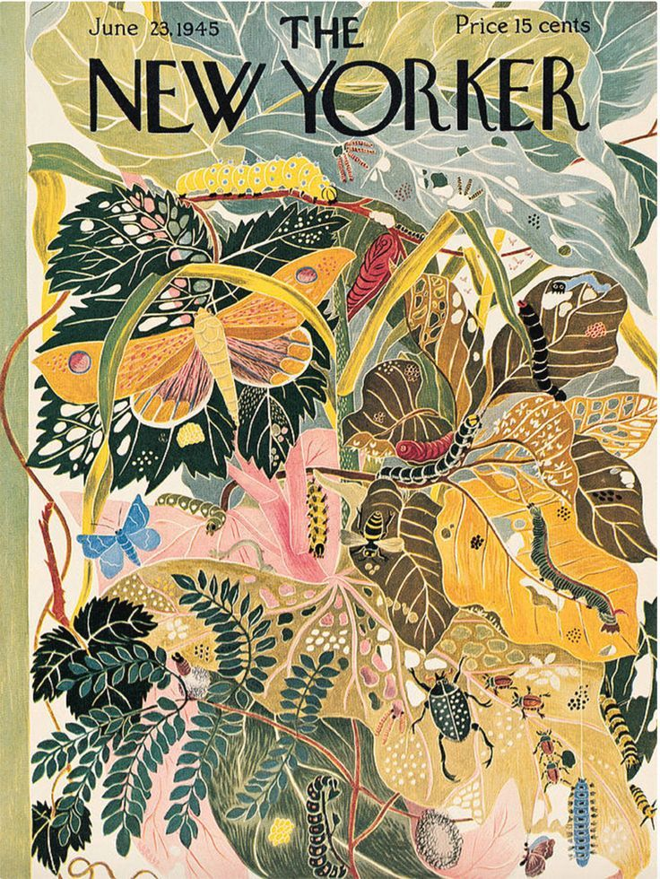 Vintage New Yorker covers // The New Yorker // vintage editorial illustration