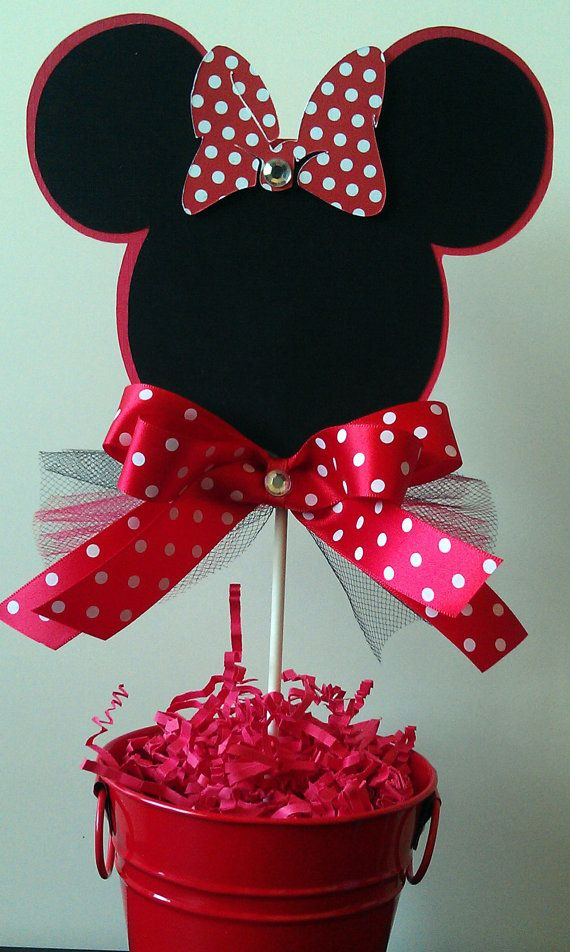 Minnie mouse red and black birthday party favor box set of