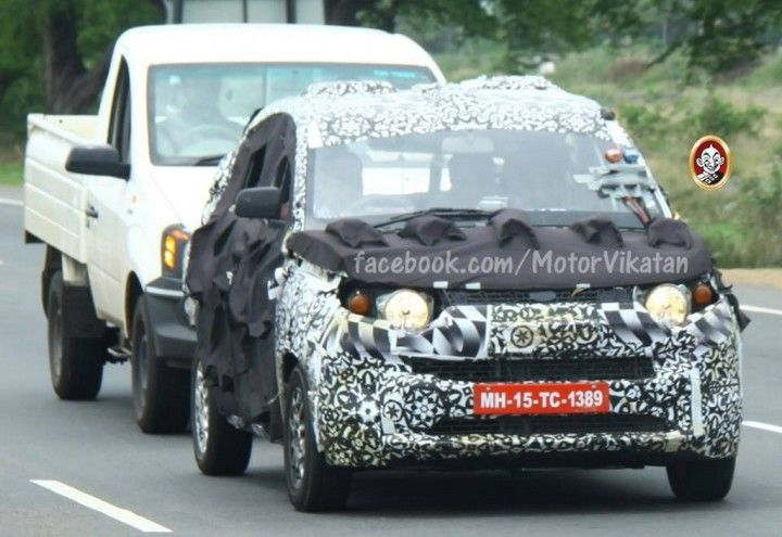 New Spy Shots Of Mahindra's EcoSport Rival, The S101 Have Emerged: http://www.carblogindia.com/mahindra-s101-spied-new/  #MahindraS101 #MahindraSmallSUV