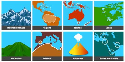 World Geography Games Offers 25 Geography Games for Kids