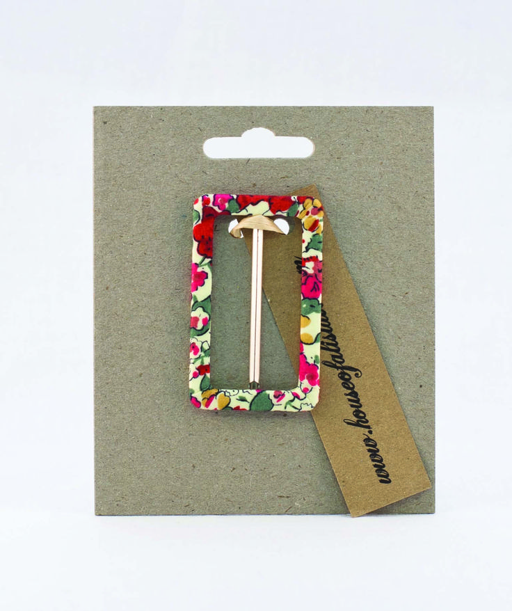 Liberty print buckles from House of Alistair in our stitching feature
