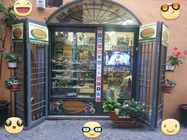RANKOUSSI , BEAD SHOP ITALY . ROMA .  BEAD SHOP ROME ®   Artistic Glass Store in   Via Sora 30/31 Roma.