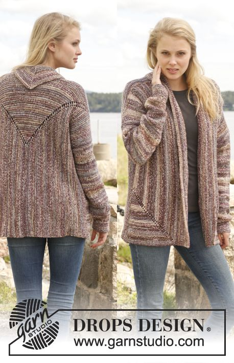 "Prepare to get noticed! #knit jacket in garter st in 2 strands ""Fabel"""