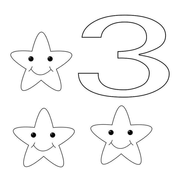 Free Number 3 Coloring Pages Download For Toddlers Adding 3