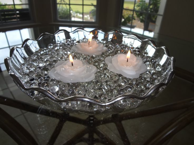 Best Velas Flutuantes Images On Pinterest Floating Candles - Beautiful flowers candles centerpieces romanticize table decoratio
