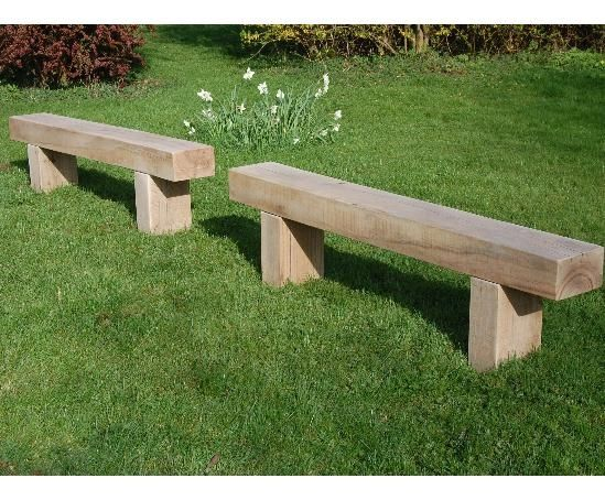 Like these oak sleeper benches - Cranham 1.8m by Branson Leisure