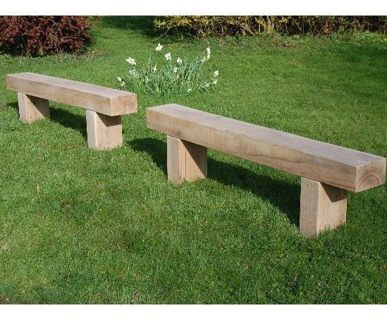 Like these oak sleeper benches - Cranham 1.8m by Branson Leisure
