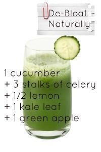 De-Bloat Naturally - Great green smoothie recipe