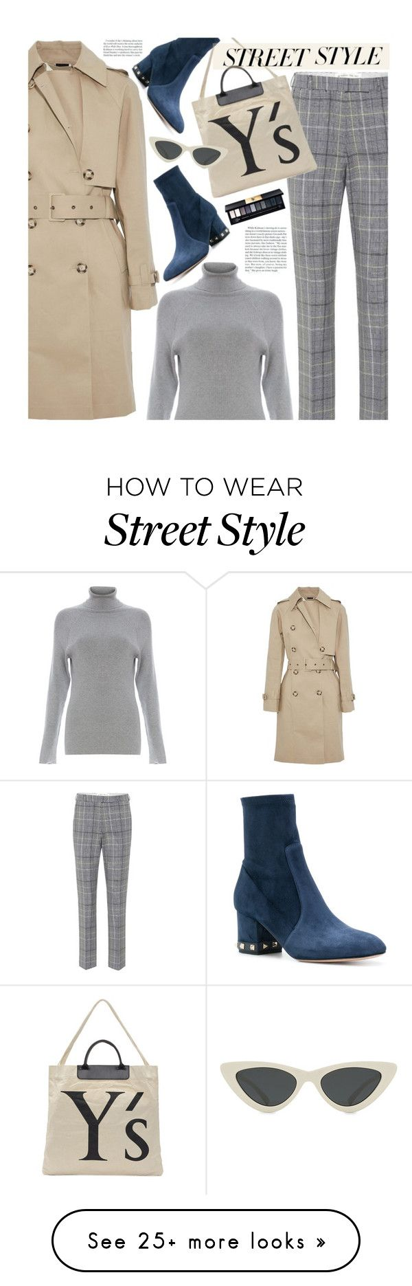 """Street Style: Plaid Pants"" by beebeely-look on Polyvore featuring STELLA McCARTNEY, Etro, 525 America, Y's by Yohji Yamamoto, Le Specs, Valentino, Yves Saint Laurent, StreetStyle, NYFW and plaid"