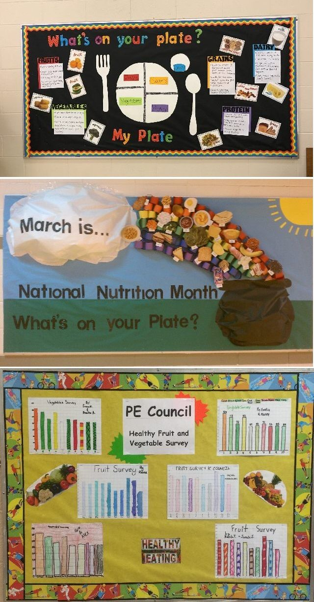 Teach students the importance of eating healthy this month for National Nutrition Month! Here is a great list of bulletin boards and lesson plans from PE Central