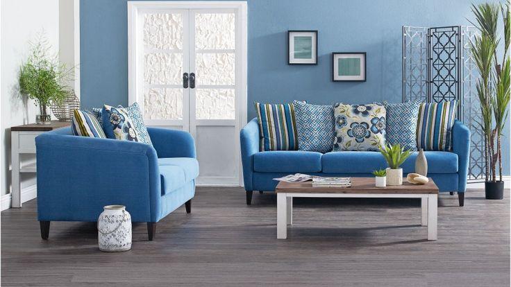 Gatsby 3 Seater Fabric Sofa - Lounges - Living Room - Furniture, Outdoor & BBQs | Harvey Norman Australia