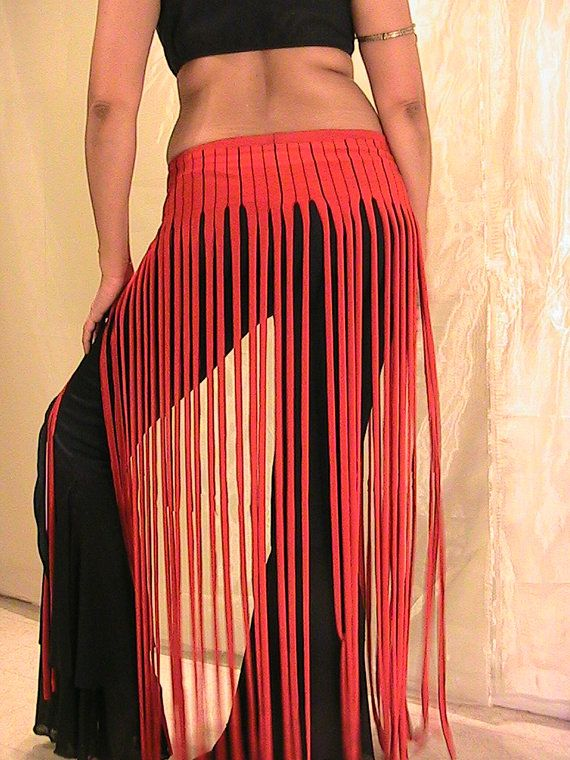 ATS Tribal Belly Dance Fringe skirt panel skirt  hip apron by Apia, $29.95