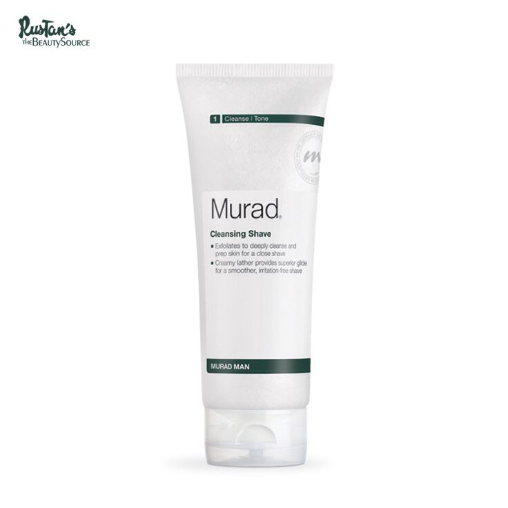 Avoid bumpy rash and enjoy freshly shaven, silky-smooth skin using Murad Man Cleansing Shave. A cleanser that also lathers into an ultra-smooth shave cream for clearer skin.