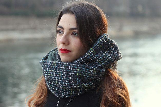 Reversible – scaldacollo sciarpa ad anello doubleface – a unique product by cucitorino on DaWanda