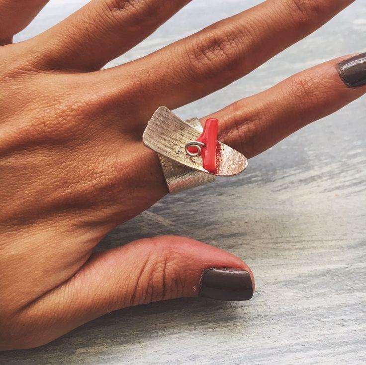 joyeria artesanal, anillo canoa