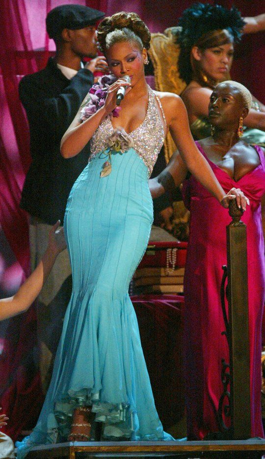 "A Look Back: Grecian Goddess meets R Diva was the theme for Beyonce's 2004 ""Dangerously In Love"" Grammy performance."