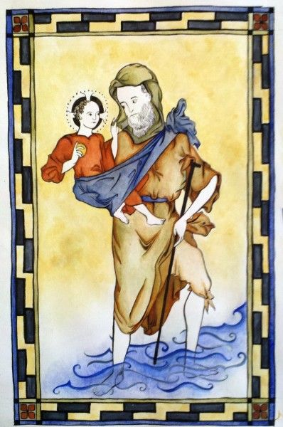 St. Christopher by Nicole Martin, St. Thomas More College